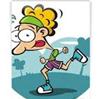 rysunkowa postać biegacza