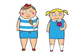 Chłopiec i dziewczynka z lizakami