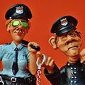 policjanci z plasteliny